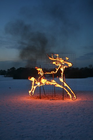 Amazing Fire Sculpture